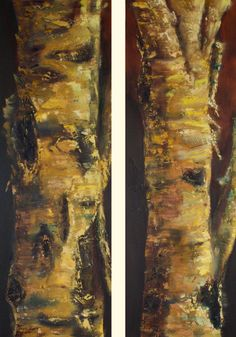 "Warm Woods Walk by Shelley Bauer Oil ~ 36"" x 12"""