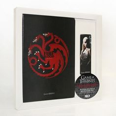 Targaryen -  Set libreta y punto de libro magnético - #JuegoDeTronos #GameOfThrones