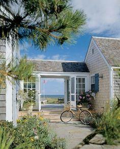 I like the idea of a breezeway in a beach home.