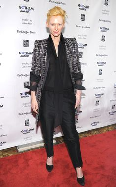 Only she can pull off suiting this well.
