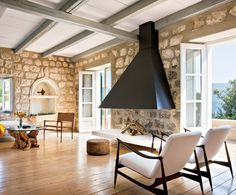 Diseño de interiores con piedra