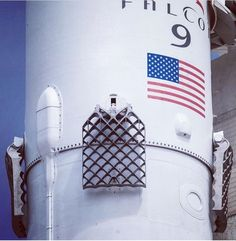 SpaceX Falcon 9 new titanium grid fins. 5ft x 4ft.