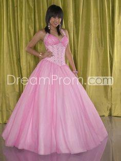New Ball Gown Floor-Length Halter Quinceanera Dresses