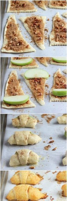 Apple Pie Bites Great after school snack! I love making this fall recipe with fresh apple! The post Apple Pie Bites appeared first on School Ideas. Fall Dessert Recipes, Fall Desserts, Keto Desserts, Fall Recipes, Quick Dessert, Dinner Dessert, Dessert Ideas, Apple Pie Bites, Apple Pies