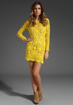 Crochetemoda: Crochet - Vestido Amarelo