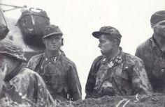 Sturmbannführer Joachim Peiper with his adjutant Untersturmführer Wolff in their command post during the Battle of Kursk. Pin by Paolo Marzioli Joachim Peiper, German Soldiers Ww2, German Army, Military Officer, German Uniforms, Tumblr, Portraits, Red Army, Panzer