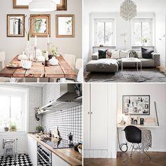 <p>Dat je niet groot hoeft te wonen om het gezellig te maken, bewijst dit sfeervolle Zweedse appartement. Door het combineren van neutrale tinten, witte wanden en de houten visgraatvloer krijgt het interieur een warme uitstraling. Woon jij ook niet zo groot en kun je wel wat inspiratie gebruiken? Bekijk snel de foto's!</p>