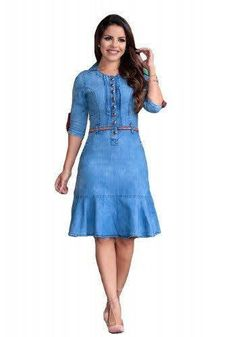 Demin Dress Outfit, Denim Bodycon Dress, Jeans Dress, Dress Outfits, Dress Up, Pretty Outfits, Beautiful Outfits, Simple Dresses, Casual Dresses