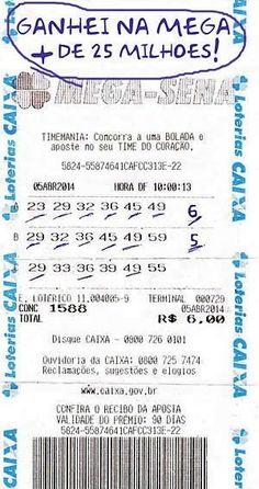 Aprenda como ganhei mais de 25 milhões na mega sena esse truque com numeros vai te deixa muito rico Resultado Mega Sena, Lotto Draw, Winning Lottery Numbers, Crassula Ovata, Christmas Drinks, Bingo, Digital Marketing, How To Make Money, Infographic