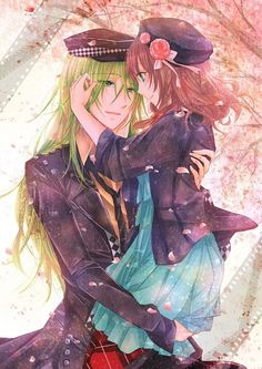 Amnesia. Ukyo and  Heroine. Yes, loved, loved him♡.♡ Love this picture.