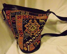 Gorgeous Kilim Carpet Bag Back Pack Shoulder Turkish Delights Impossible to Find $179.99