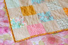 Patchwork Picnic Quilt by Jeni Baker, via Flickr