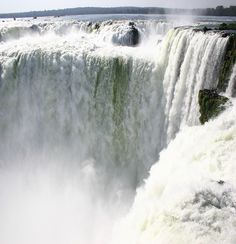 """First Lady Eleanor Roosevelt is believed to have exclaimed upon seeing these falls, """"poor Niagara."""" The area surrounding the falls provides ample opportunities for rock climbing as well as water sports. Iguazu has the distinction of having a greater annual flow than any other waterfall in the world."""