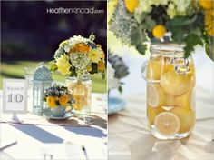 Pretty Lemon flower centerpiece by Kissa