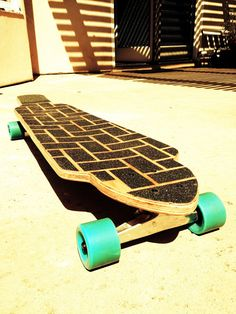 Custom Handmade 40 Long Board with Baby Blue by PovertyBoards, $150.00