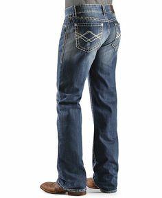 Rock & Roll Cowboy Double Stitched Diamond Back Pocket Jeans - Sheplers