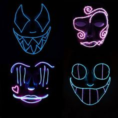 Check out these awesome Jabbawockeez style adult light up EL Wire masks! Their vibrant light up designs are sure to catch every one's eyes and simply demand attention. These masks use the awesome and versatile…