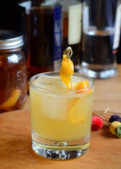Spirited Mariner: 1 1/2 oz Orange, Vanilla and Clove Vodka 1 oz dark rum, such as Skipper Rum 1 oz lime juice 1/2 oz Cointreau or triple sec 3/4 oz simple syrup 2 dashes orange bitters