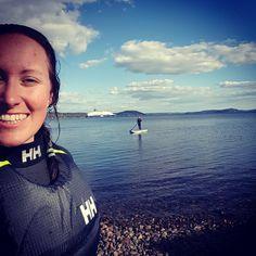 SUP in Norway in Spring!  Photo from @ trinera Instagram! Surfs Up, Helly Hansen, Over Ear Headphones, Norway, Adventure, Spring, Instagram Posts, Life, Surf