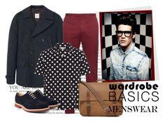 """Wardrobe Basics: Menswear"" by fashion-tagblog on Polyvore featuring MANGO MAN, Incotex, Yves Saint Laurent, Ally Capellino, Church's, mens, men, men's wear, mens wear i male"