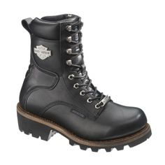 Harley Davidson Tyson Motorcycle Boots Mens Black Leather - ONLY $144.99