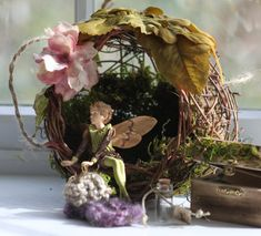 Fairy House Nest Style Fairy House by OliveNatureFolklore on Etsy