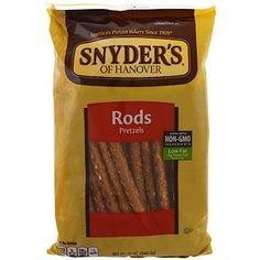 Snyder's, Pretzel Rods, 12 oz g) Great Awesome Snyder's, Palitos de . Pretzel Bakery, Potato Flour, Pretzel Rods, Calorie Diet, Health And Nutrition, Women's Health, Saturated Fat, Serving Size, Family Meals