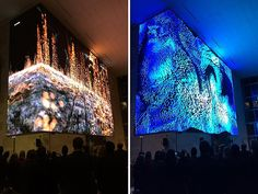 On November 16, 2015, a new parametric data sculpture by artist Refik Anadol christened 350 Mission's 40-foot-tall digital canvas. Visible from the street, the immersive installation will be screened during the morning and evening commute this week.
