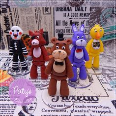 Kit 5 miniaturas Five Nights at Freddy's (FNAF) - 8cm - Paty's Biscuit