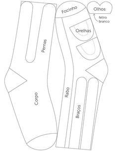 Diagrama Boneco de Meia Passo a Passo