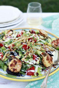 Baked Coconut Shrimp BBQ Salad  | Yummy Mummy Kitchen | A Vibrant Vegetarian Blog