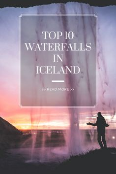 10 best waterfalls in Iceland acoording to Kristin. Take a look at the full top 10 list of waterfalls and go visit them asap! Read more here Famous Waterfalls, Beautiful Waterfalls, Iceland Waterfalls, Iceland Travel, Arctic, The Good Place, Things To Do, Most Beautiful, Tours