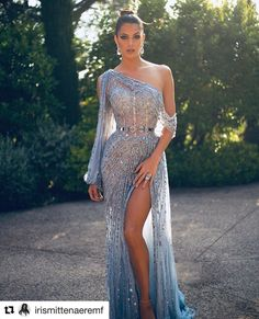 Miss Universe France kills this gorgeous sheer blue beaded side slit gown for This look is stunning. 2 dernières pour la route 🙈 Still obsessed with this look ! Thanks to my amazing team ✨ Toutes les infos taguées sur la photo 😁 Glam Dresses, Pretty Dresses, Sexy Dresses, Fashion Dresses, Wedding Dresses, Long Dresses, Summer Dresses, Best Prom Dresses, Long Elegant Dresses