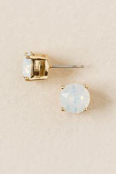 Swarovski Stud Earring in White Opal