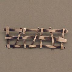 Ansteckbroschen - SILBER-BROSCHE GITTER SCHMAL - ein Designerstück von schmucker_schmuck bei DaWanda