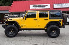 Custom 2015 Jeep Wrangler Unlimited Rubicon - Baja Yellow - 37x12.50.17 BFG K02 Tires