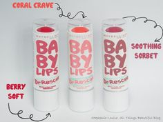 Maybelline Dr. Rescue Baby lips                            How can u say no to coral crave