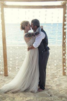 Turks and Caicos Wedding! Barefoot on the beach!