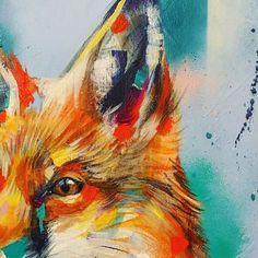 Orange #orange #orangesky #fineart #fox #foxart #inari #inarishrine #messenger #kitsune #japan #Japanese #animalart #artist #art #artstudio #artoftheday #artistsoninstagram #spraycan #spraypaint #spraypaintart #sianstoreyart #sketch #drawing #details by sianstoreyart