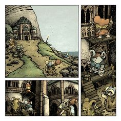 Shorestone's exterior from Mouse Guard: The Black Axe  David Petersen's Blog