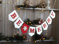 Be Merry Banner/ Christmas Decoration /Be Merry by FriendlyEvents