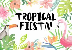 Tropical Fiesta  Design Resource by alittlegreydog on Etsy