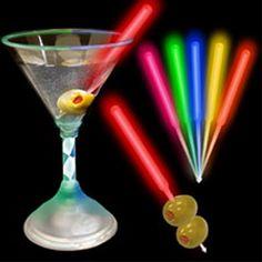Glow Martini Olive Picks | Lighted Olive Picks | Light Up Olive Picks