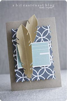 All Occasion Card...Featherson gray printed background