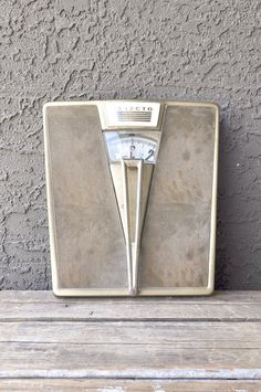 Art Deco bathroom scale