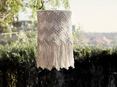 Large Macrame Hang Lamp / Lamp Shade / Modern / Home Deco / Interior decoration / Sustainable homeware
