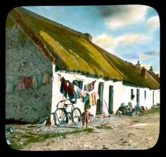 Claddagh: child near cottages in Claddagh, a fishing village :: Branson DeCou Digital Archive Old Pictures, Old Photos, Images Of Ireland, Irish Cottage, Galway Ireland, Emerald Isle, Fishing Villages, Northern Ireland, Landscape