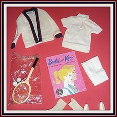 Mattel -Ken Doll -Time for Tennis-Complete #790 1962-63 from ~ DOLL-LIGHTED TO MEET YOU ~ found @Doll Shops United http://www.dollshopsunited.com/stores/dolllighted/items/1267508/Mattel-Ken-Doll-Time-for-Tennis-Complete-790-1962-63 #dollshopsunnited
