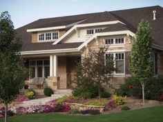 A Exterior:  Like the front porch and horizontal rectangle windows
