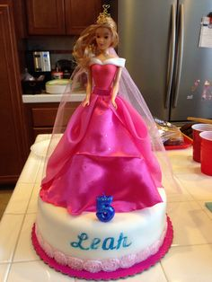Princess Aurora cake my sister Maricel and I created for our niece Leah.